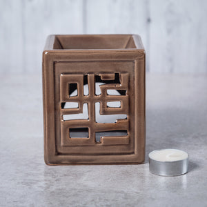 Oriental Ceramic Oil Burner (Brown) - Oil Burner - Rituals Home