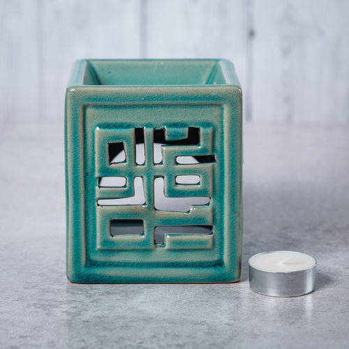 Oriental Ceramic Oil Burner (Turquoise) - Oil Burner - Altruis Living