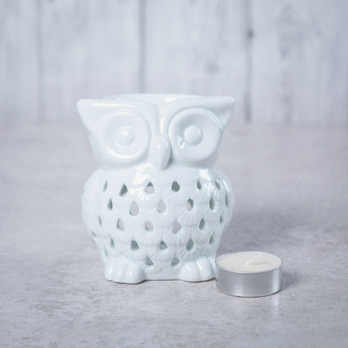 Owl Ceramic Oil Burner (White) - Oil Burner - Altruis Living