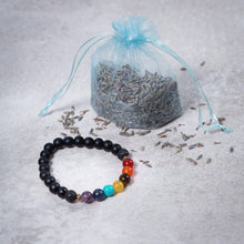 Load image into Gallery viewer, Teen 7 CHAKRA Diffuser Bracelet Black Onyx - Diffuser Bracelets - Altruis Living