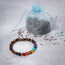 Load image into Gallery viewer, Teen 7 CHAKRA Essential Oil Diffuser Bracelet Tiger's Eye - Diffuser Bracelets - Altruis Living