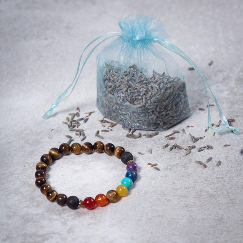Teen 7 CHAKRA Essential Oil Diffuser Bracelet Tiger's Eye - Diffuser Bracelets - Altruis Living