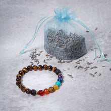 Load image into Gallery viewer, Kids 7 CHAKRA Essential Oil Diffuser Bracelet Tiger's Eye - Diffuser Bracelets - Altruis Living