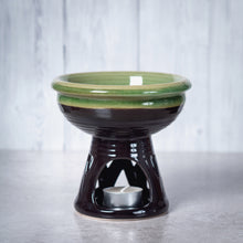 Load image into Gallery viewer, Temple Deep Bowl Ceramic Oil Burner / Wax Wamer (Green) - Oil Burner - Rituals Home