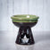 Temple Deep Bowl Ceramic Oil Burner / Wax Wamer (Green)