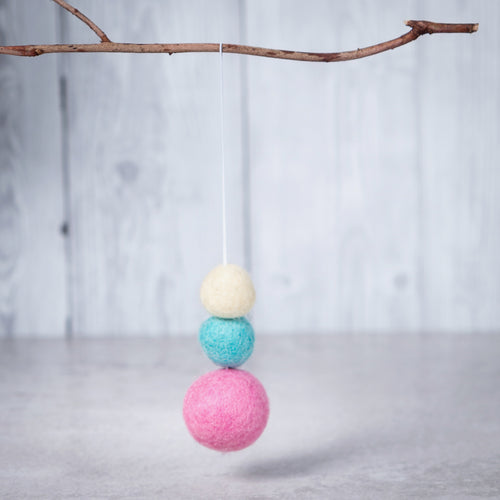 Felt Ball Aromatherapy Car Diffuser Pastels - Home & Car Diffuser / Freshner - Altruis Living