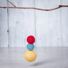 Load image into Gallery viewer, Felt Ball Aromatherapy Diffuser Red, Yellow & Blue - Car Diffuser / Freshner - Rituals Home