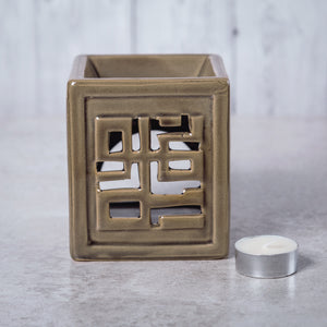 Oriental Ceramic Oil Burner (Light Brown) - Oil Burner - Altruis Living