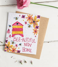 Load image into Gallery viewer, Bee-autiful New Home Plantable Seed card - Greetings Cards - Altruis Living
