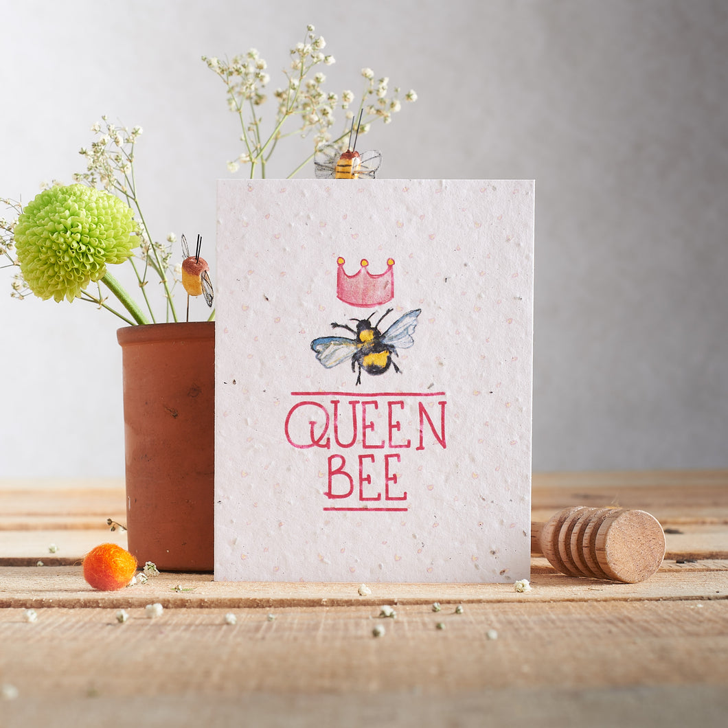 Queen Bee Plantable Seed card - Greetings Cards - Altruis Living
