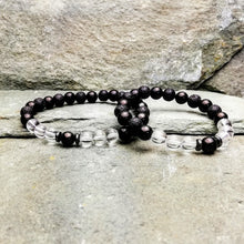 Load image into Gallery viewer, SHIELD & PROTECT Mens Small Essential Oil Diffuser Bracelet Shungite, Clear Quartz & Hemetite - Diffuser Bracelets - Altruis Living