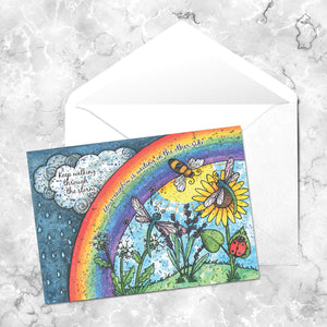 Keep Walking Through The Storm Card - Greetings Cards - Altruis Living