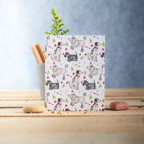 Pooch dog Pattern Plantable Seed card - Greetings Cards - Altruis Living