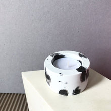 Load image into Gallery viewer, Black & White Concrete Tealight Holder Dalmatian Print - Candle Holder - Altruis Living