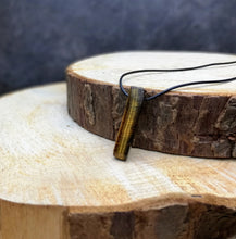 Load image into Gallery viewer, BELIEVE Shard Necklace Tigers Eye