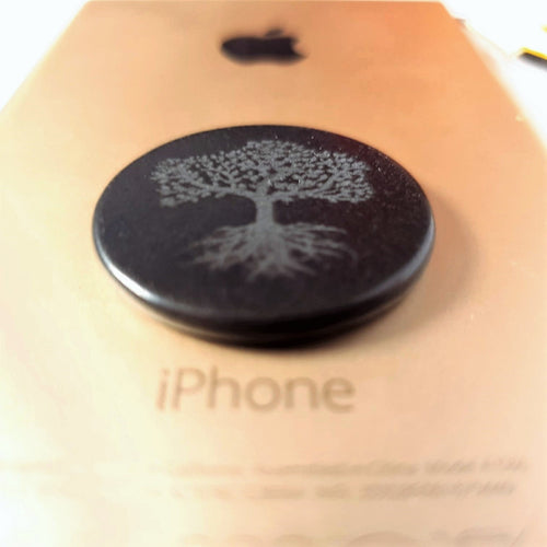Shungite EMF Protection Plate for Mobile Phones - Tree of Life - Crystals and Gemstones - Altruis Living