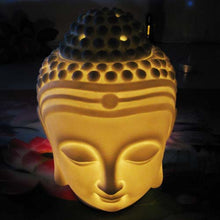 Load image into Gallery viewer, Buddha Head Ceramic Oil Burner (White) - Oil Burner - Altruis Living