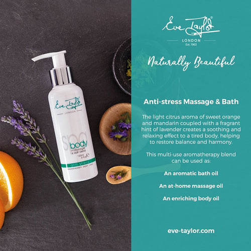 Eve Taylor Anti-Stress Massage & Bath Blend - Aromatherapy Body Treatment Oil - Altruis Living