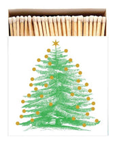 Load image into Gallery viewer, Luxury Long Matches in designer box Christmas Tree design (Christmas Collection) - Candle Tools - Altruis Living