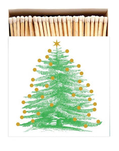 Luxury Long Matches in designer box Christmas Tree design (Christmas Collection) - Candle Tools - Altruis Living