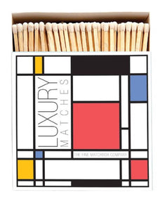 Luxury Long Matches in designer box Mondrian design - Candle Tools - Altruis Living