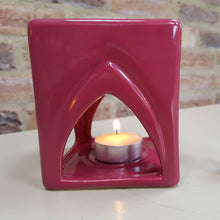 Load image into Gallery viewer, Temple Ceramic Oil Burner (Plum Red) - Oil Burner - Altruis Living
