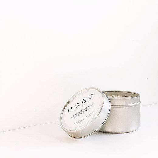 Hobo Lemongrass & Coconut Soy Candle (Travel Tin) - Candles - Altruis Living