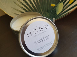 Hobo Oakwood & Tobacco Soy Candle (Travel Tin) - Candles - Altruis Living