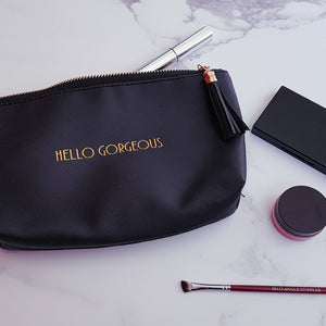 Hello Gorgeous Black Make Up Bag - Make up Bag - Altruis Living