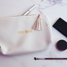Load image into Gallery viewer, Shine Bright White Make Up Bag - Make up Bag - Altruis Living