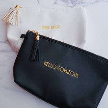 Load image into Gallery viewer, Hello Gorgeous Black Make Up Bag - Make up Bag - Altruis Living