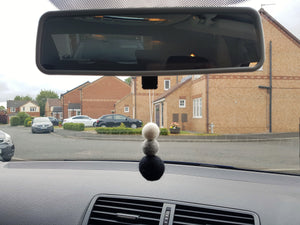 Felt Ball Aromatherapy Car Diffuser Monochrome - Home & Car Diffuser / Freshner - Altruis Living