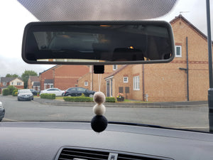 Felt Ball Aromatherapy Car Diffuser Black, White & Beige - Home & Car Diffuser / Freshner - Altruis Living