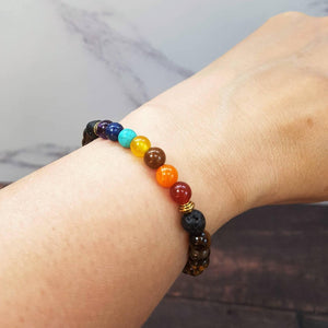 Teen 7 CHAKRA Diffuser Bracelet Tiger's Eye - Diffuser Bracelets - Rituals Home