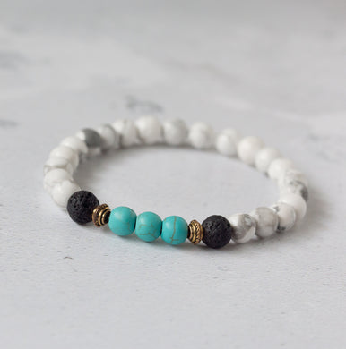 PEACE Teen Diffuser Bracelet Howlite & Turquoise - Diffuser Bracelets - Rituals Home