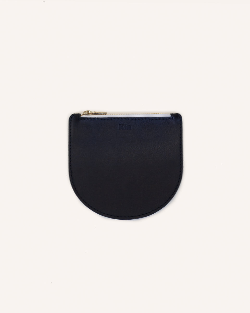 Onyx Athens Mini Pouch in Genuine Italian Leather