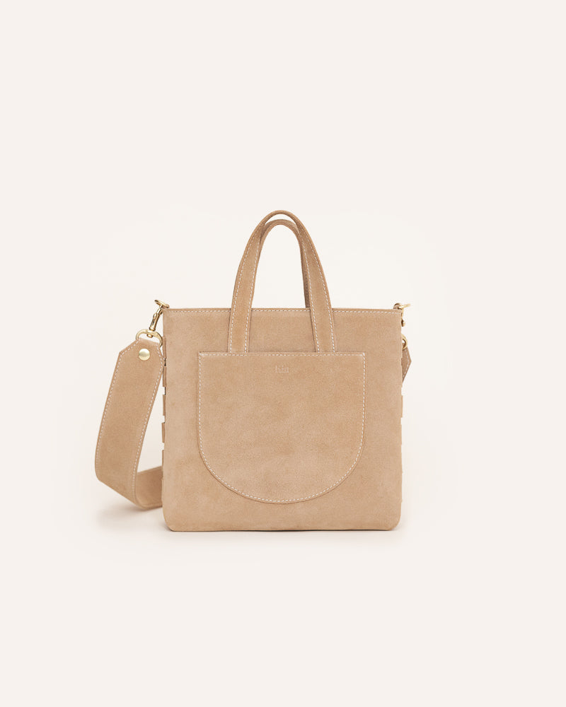 Beige Chloe Mini Tote in Italian Leather