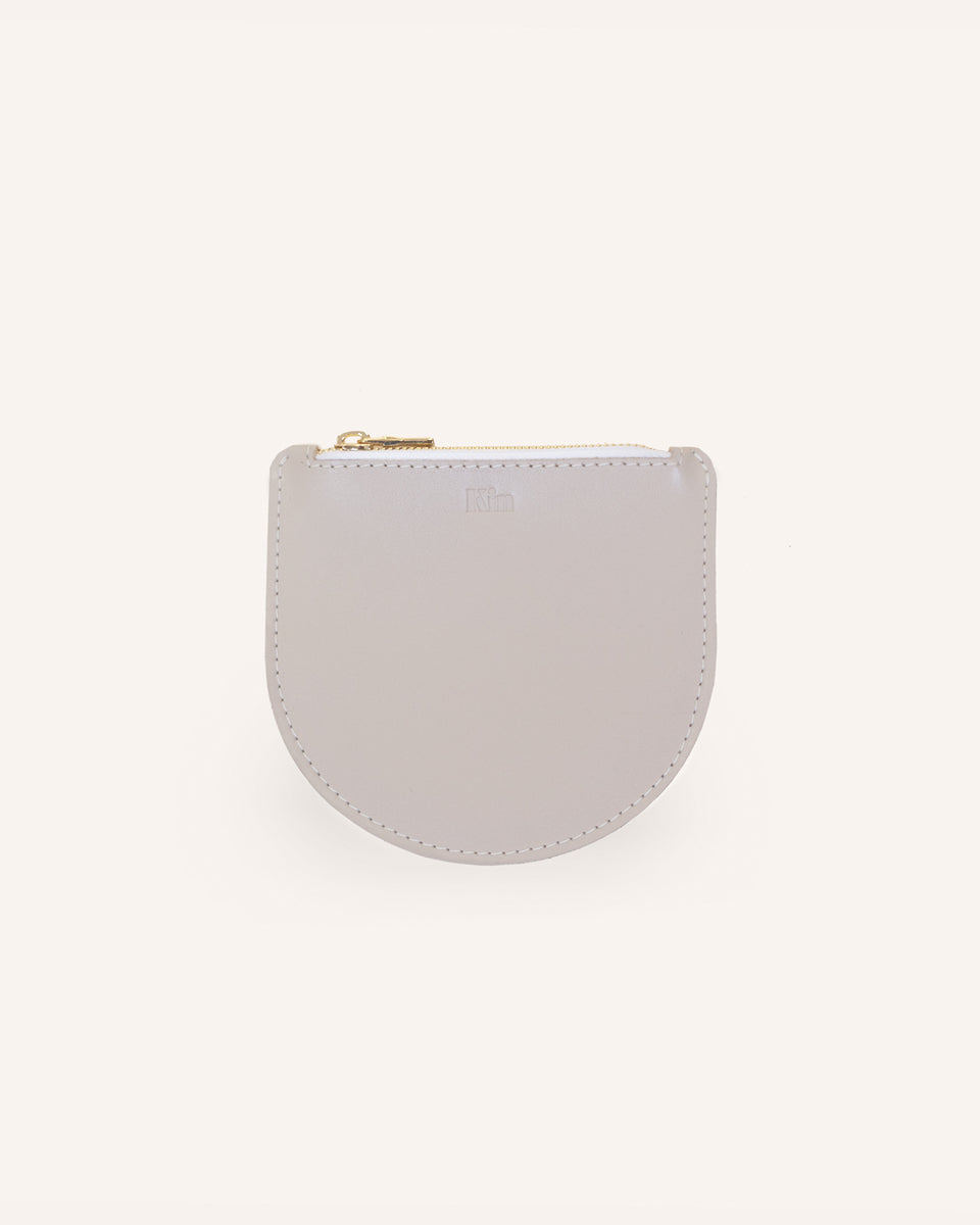 Beige Athens Mini Pouch in Italian Leather