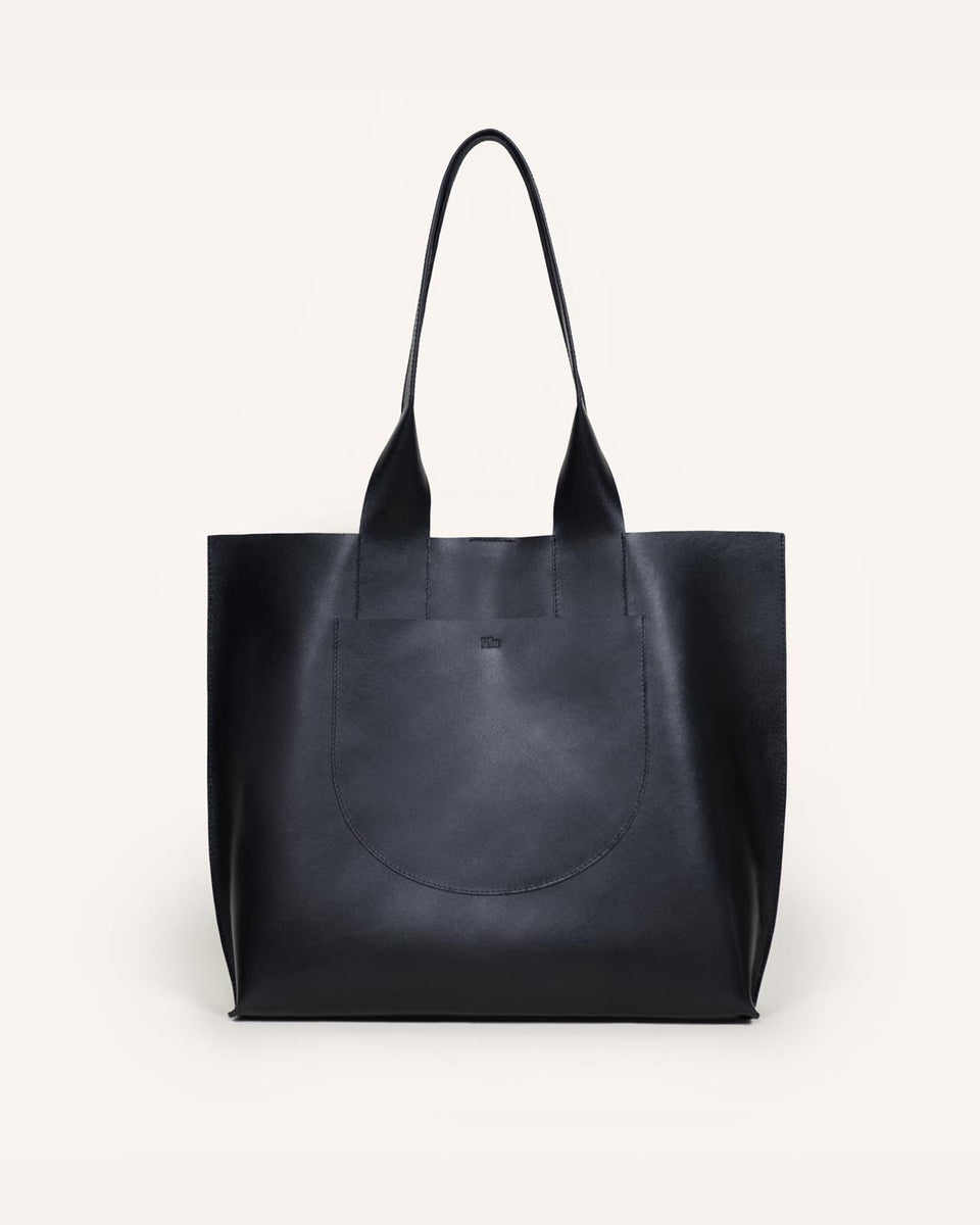 Black Chloe Mini Tote in Italian Leather