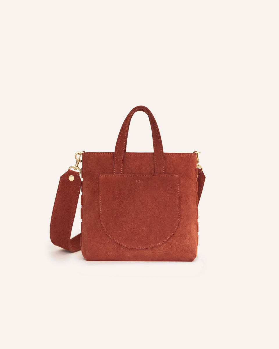 Highland Fox Mini Tote in Genuine Italian Suede