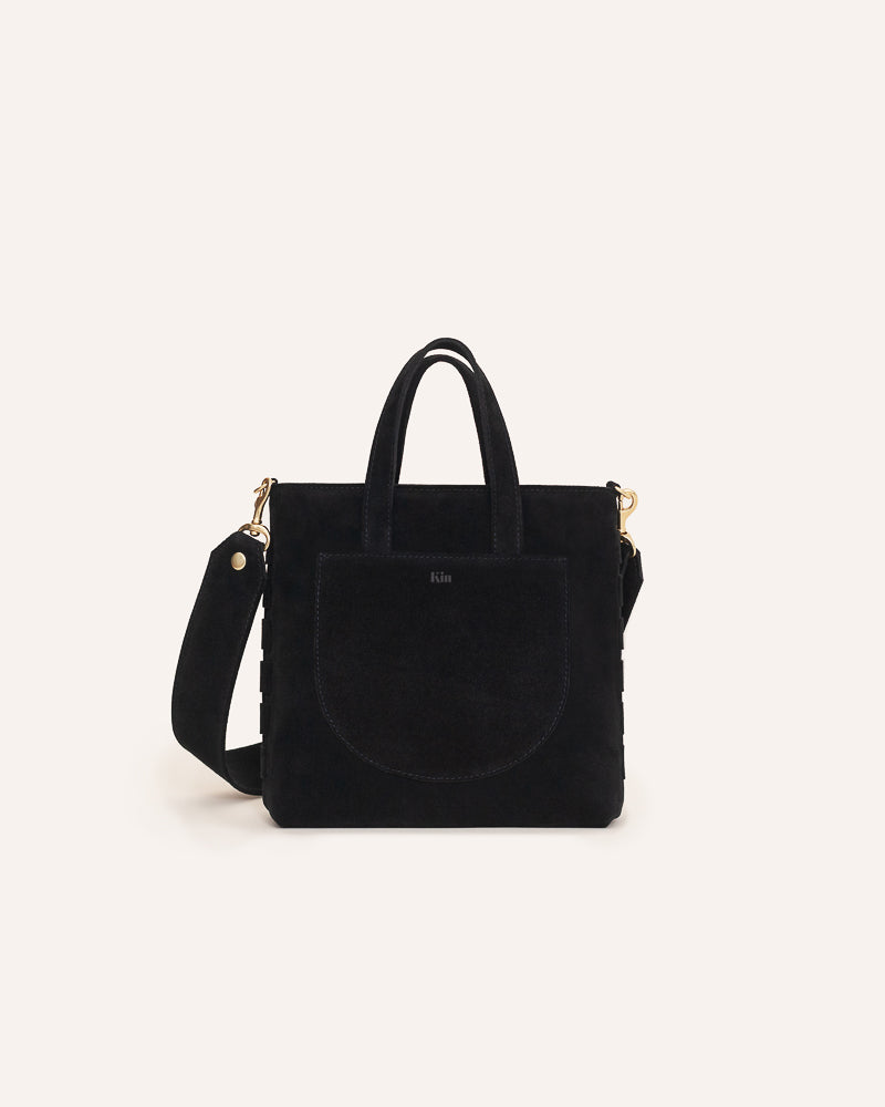 Onyx Mini Tote in Italian Suede