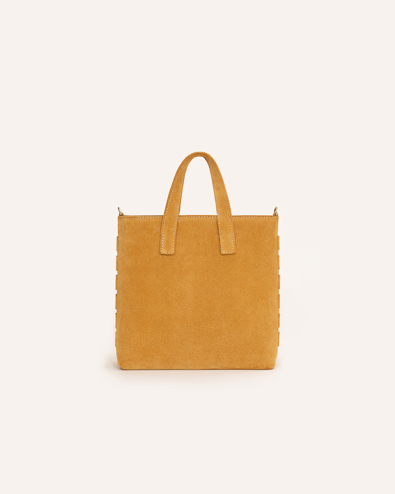 Sandcastle Mini Tote in Italian Suede