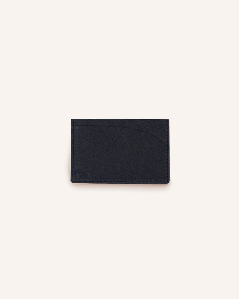 Black Auburn Card Wallet in Genuine Italian Leather