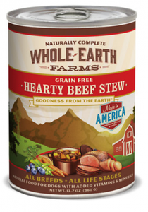 Whole Earth Farms Grain Free Hearty Beef Stew Canned Dog Food