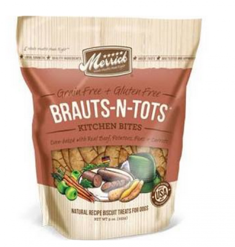 Merrick Brauts-N-Tots Kitchen Bites Dog Treats