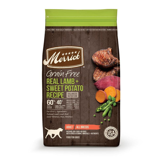 Merrick Grain Free Real Lamb and Sweet Potato Recipe Dry Dog Food