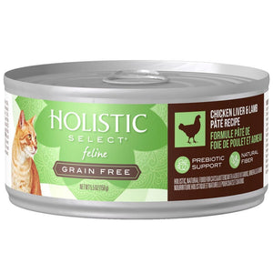 Holistic Select Natural Grain Free Chicken Liver & Lamb Pate Canned Cat Food