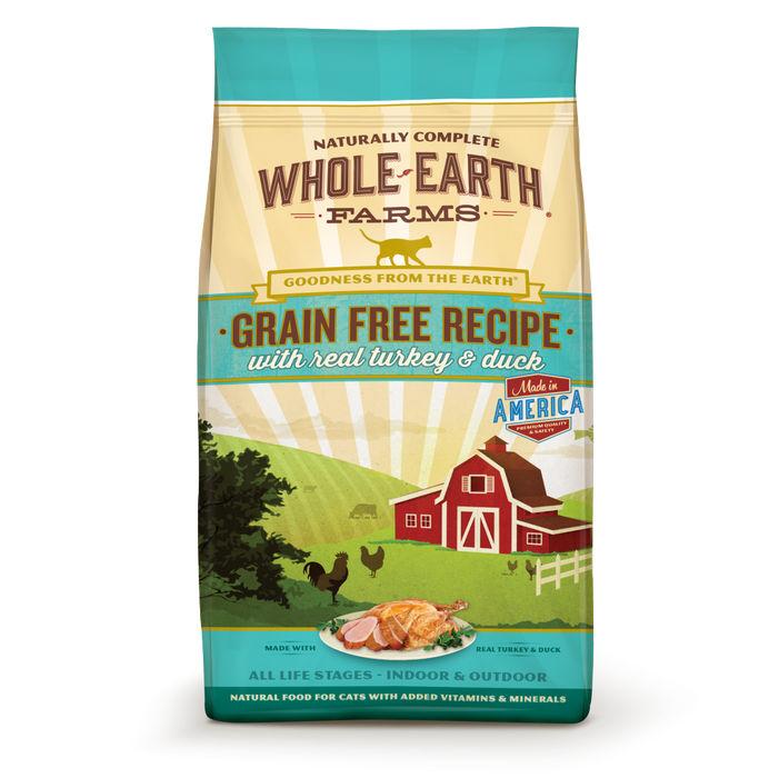 Whole Earth Farms Grain Free Real Turkey and Duck Recipe Dry Cat Food