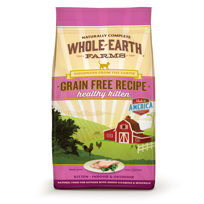 Whole Earth Farms Grain Free Kitten Recipe Dry Cat Food