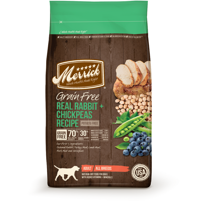 Merrick Grain Free Real Rabbit and Chickpeas Recipe Adult Dry Dog Food